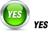 Yes button. — Stock Vector