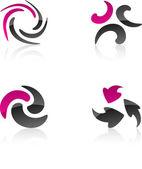 Elementos de diseño abstracto. — Vector de stock