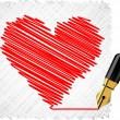 Royalty-Free Stock Vector Image: Scribbled heart shape.