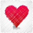 Scribbled heart shape. - Stock Vector