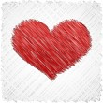 karalanmış kalp şekli — Stok Vektör
