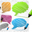 Royalty-Free Stock Imagen vectorial: Scribbled speech shapes.