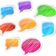 Royalty-Free Stock Imagen vectorial: Hand drawn speech set.