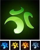 Färg pulserande emblem. — Stockvektor