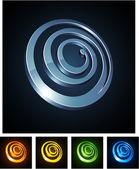 3d spiral emblems. — Stock Vector