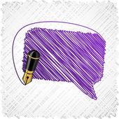 Scribbled speech shape. — Stock Vector