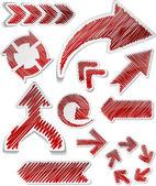 Hand drawn arrows set. — Stock Vector