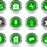 iconos de oficina — Vector de stock  #5069955