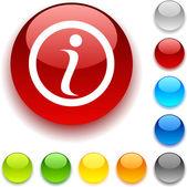 Info button. — Stock vektor