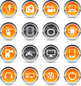 Multimedia icons. — Stock Vector