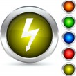 Flash button. — Stock Vector