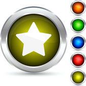 Star button. — Stock Vector