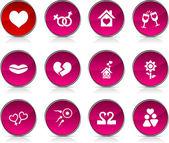 Kärlek ikoner. — Stockvektor