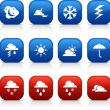 Weather  buttons. — Stock Vector