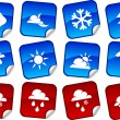 Weather stickers. — Stock Vector