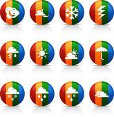 Weather buttons. — Vector de stock