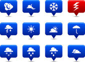 Weather buttons. — Wektor stockowy