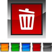 Recycle bin. icons. — Stock Vector