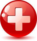 Szwajcaria flaga ikona. — Wektor stockowy