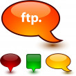 Stock Vector: FTP speech comic icons.