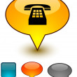 Telephone speech comic icons. — Stock Vector
