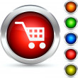 Shopping button. — Imagen vectorial