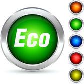 Eco-knappen. — Stockvektor