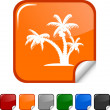 Tropical  icon. — Stock Vector