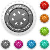 Under construction award. — Vector de stock