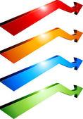 Flechas 3d. — Vector de stock