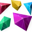 Polygonal vibrant pyramid. — Stock Vector
