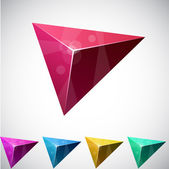 Triangular vibrant pyramid. — Stock Vector