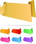 Origami papier. — Stockvector