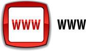WWW button. — Stockvektor