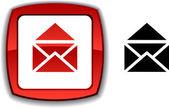 电子邮件按钮. — 图库矢量图片