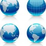 Earth icon set. — Stock Vector
