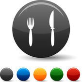 Dinner icons. — Stock Vector