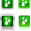 Vector de stock : Rain icons.