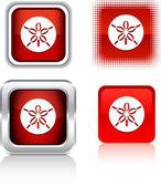 Sand dollar icons. — Stock Vector