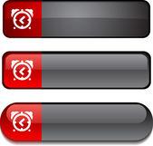 Alarm-clock button set. — Stock Vector