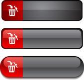 Delete button set. — Stock Vector