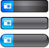Photo button set. — Stock Vector
