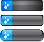 Rain button set. — Stock Vector