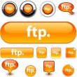 Stock Vector: FTP signs.