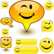 Vector de stock : Smiley signs.