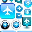 Royalty-Free Stock Vector Image: Aircraft signs.