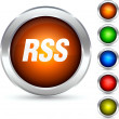 Rss button. — Stock Vector