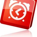 Alarm-clock icon. — Stock Vector