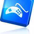 Stock Vector: Gamepad icon.