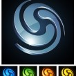 3d swirl emblems. — Stock Vector